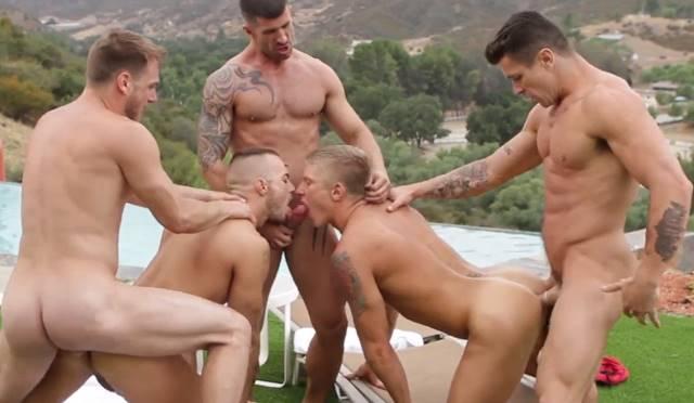 sexo grupal homosexual